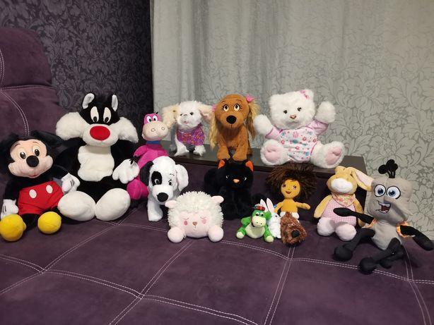 Мягкие игрушки одним лотом, Люси, furreal, микки Дисней