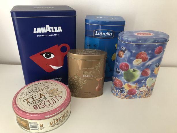 Puszka puszki metalowe duże do przechowywania Lavazza lubella tea