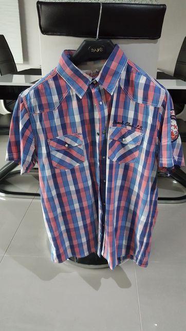 Męska koszula z krótkim rękawem XL