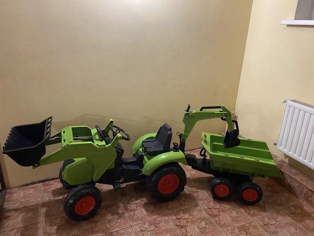 Детский трактор на педалях с прицепом Falk 1010W Claas Axos
