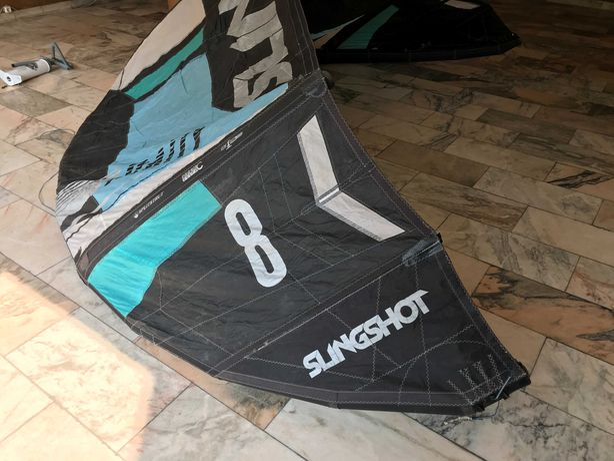 Kite Slingshot Rally 8m (2017) with bar / com barra