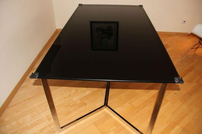 Stół szklany czarny. Nowy 2300 pln. Nogi chrom