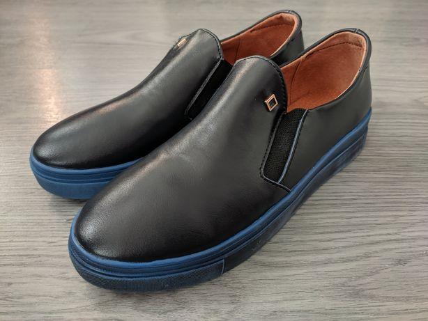 Туфли кожаные мокасины лоферы кеды