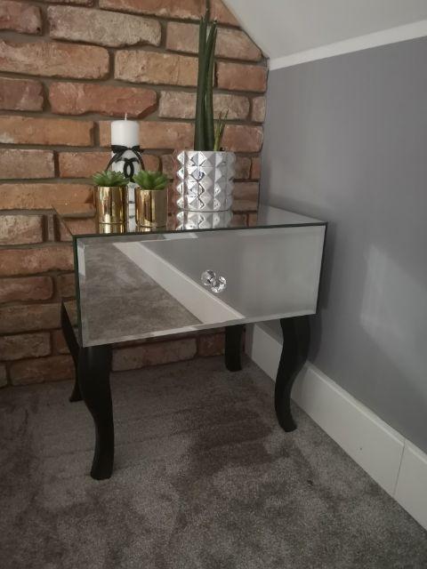Stolik szafka nocna lustrzana nogi proste lub gięte Piotrków Trybunalski - image 1