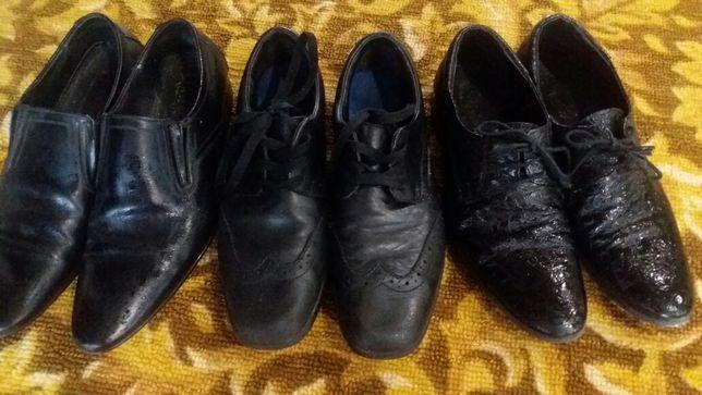 Туфли мужские кожаные подростковые 38 и 39 размер