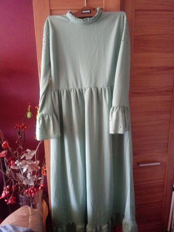 Sukienka suknia xxl komunia nowa! Miętowa pistacja hiszpanka ćwieki