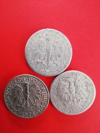 5 zł Rybak 2 x 1959 oraz 1974