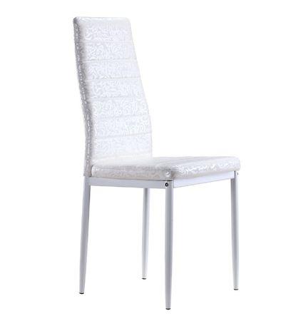 Conjunto de 4 ou 6 cadeiras brancas com padrão de cornucópias - S2 Rom