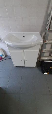 Móvel wc lacado branco