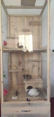 Изготовление мебели из поддонов, клетки и витрины для питомцев