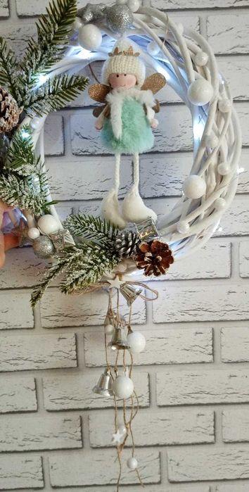 Stroik wianek na drzwi świąteczny 30 cm Janiszewo - image 1