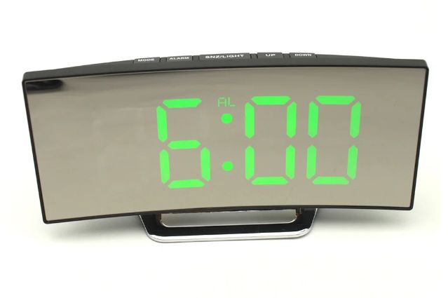 Электронные зеркальные часы настольные EDLT DT-6507 Черные