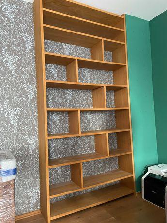 Półka na książki - Fornirowana dąb naturalny