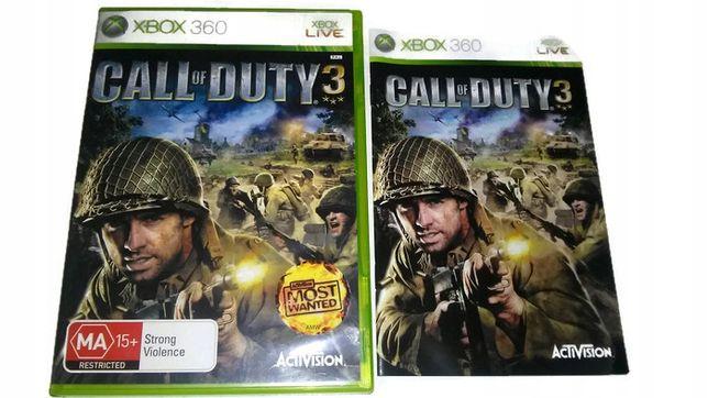 Call Of Duty 3 Xbox 360 One Ii Wojna Światowa Wwii
