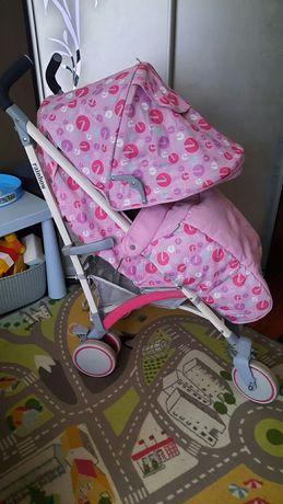 Детская коляска Rainbow розовая в отличном состоянии