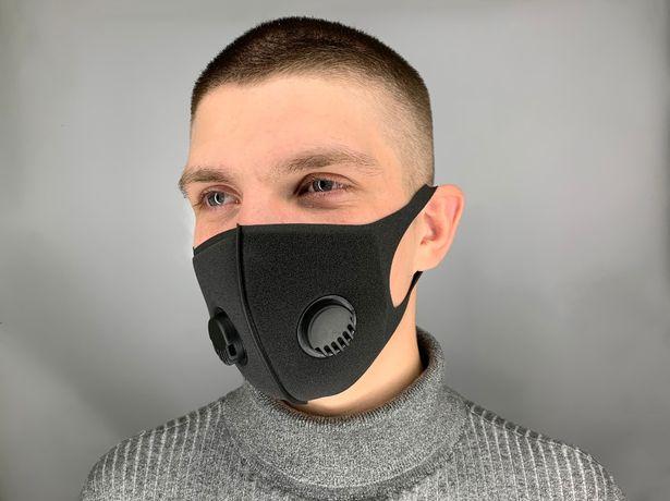 Черная многоразовая питта маска с двумя клапанами, PITTA маски