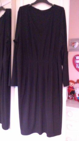 Czarna sukienka wygodna elastyczna M&S 18.46-54. szykowna, elegancka