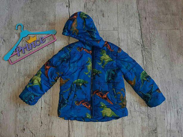 Демисезонная куртка в динозавры 3-4г