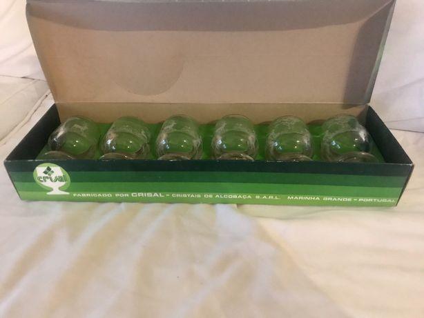 6 copos balão 5 cl cristais de alcobaça Marinha Grande