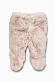 Next 68 nowe spodnie futerko na podszewce