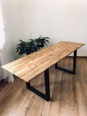 Stół rozkładany stare drewno loft retro