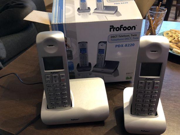 Telefon bezprzewodowy stacjonarny, domowy, przenosny