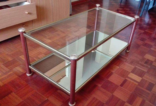 Mesa de centro em vidro p/ sala