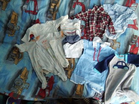 Ciuszki ubranka dla chłopca roz 68