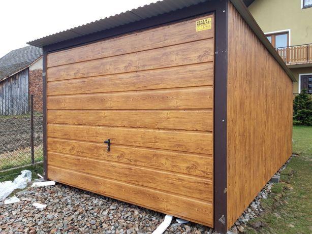 garaz blaszany blaszak 3x5 + brama uchylna Blaszane garaze multigross