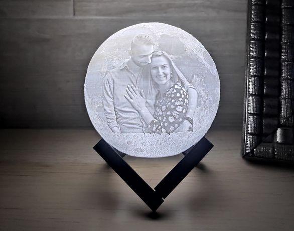 Candeeiro lua com foto personalizada