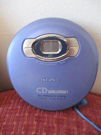 Vintage Sony Cd Walkman D-EJ611 Portátil; roxo