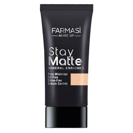 тональний крем матуючий Farmasi Stay Matte Foundation