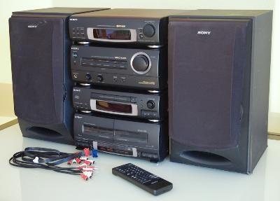 Aparelhagem Som Hi-fi Sony MHC-EX5 com colunas