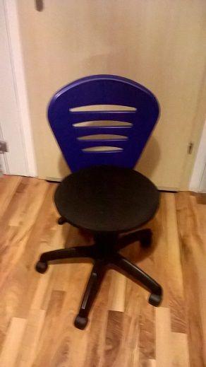 Krzesło krzesełko biurkowe obrotowe dla dziecka dziecięce