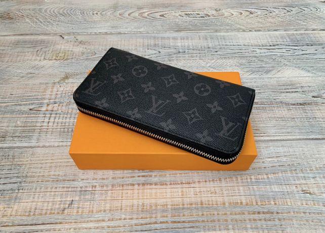 Мужской кожаный клатч кошелек барсетка Louis Vuitton