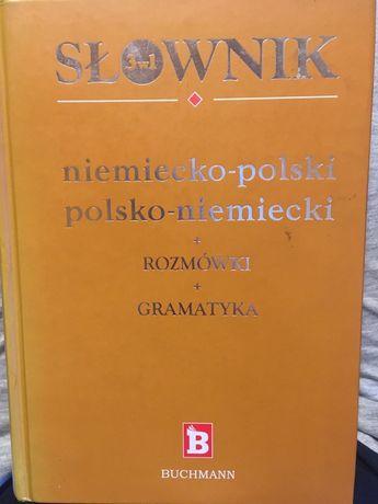Słownik niemiecko-polski; polsko-niemiecki BUCHMANN rozmówki gramatyka