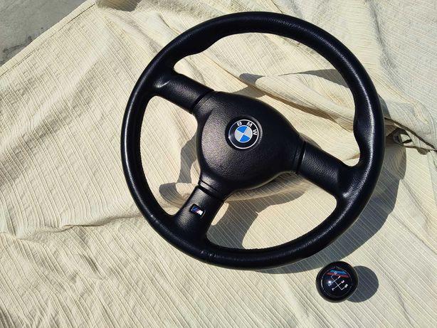 Volante e Moca BMW M Tech 2 Original Pele de origem e Optimo estado