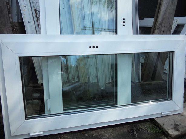 Okna używane PCV szer 130 x 60 wys