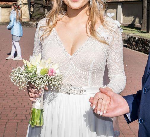 Suknia ślubna rozm . M/L  + welon GRATIS