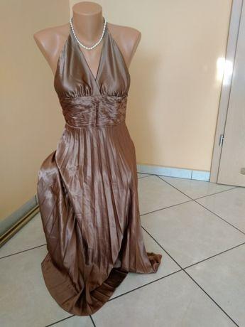 Elegancka sukienka plisowana, M, L