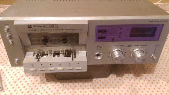 кассетный магнитофон-Орель-101С-1