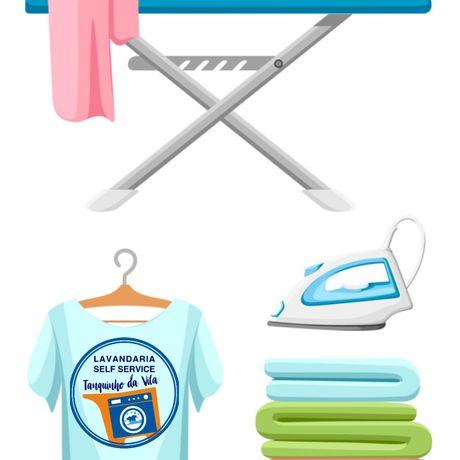 Lavamos, secamos e engomamos a sua roupa