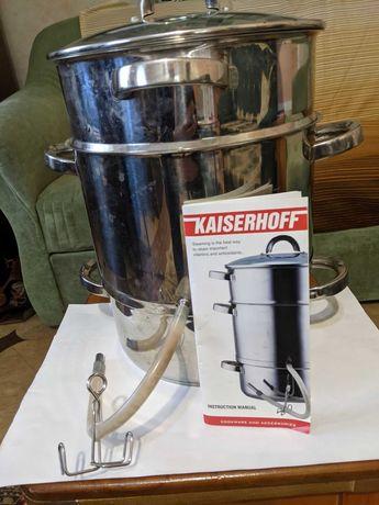 Соковарка Kaiserhoff 8 литров, в идеале, нерж. сталь