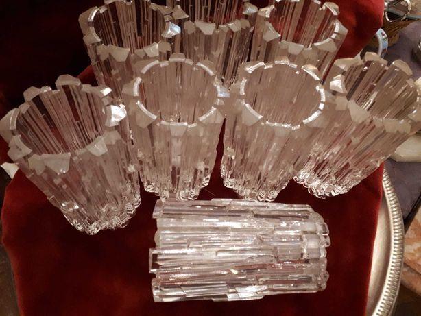 8 vidros de candeeiros vintage anos 70