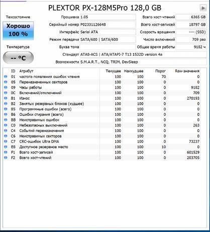 "SSD MLC Plextor 128GB 2.5"" SATAIII MLC PX-128M5P 128гб"