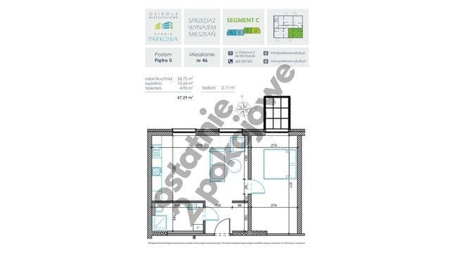 OSTATNIE TAKIE 47 m2,2 pokoje,PARK,10min do Rynku