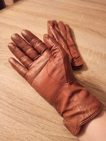 Rękawice skórzane nowe tanio