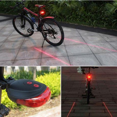 Farolim traseiro LED e laser's para bicicleta (NOVO AINDA COM CAIXA)