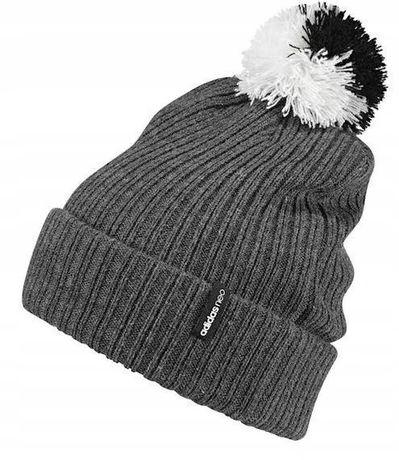 Adidas зимняя шапка с помпоном pompon beani