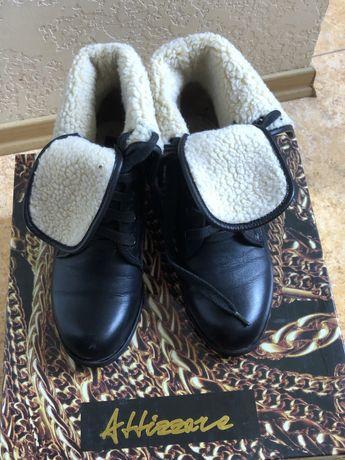 Ботинки фирмы Attizzare 35-36размер кожа-мех